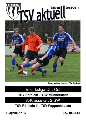 TSV aktuell Nr. 17 2013/14