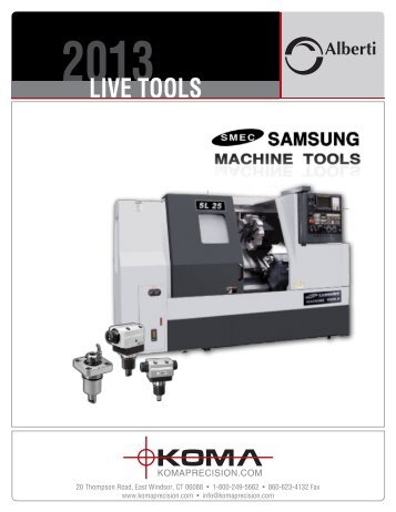 Live Tools for Samsung - Koma Precision, Inc.