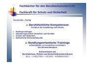 Fachbücher für den Berufsschulunterricht Fachkraft für Schutz und ...