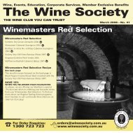 Winemaster's Selection March 2008 - Red - The Wine Society