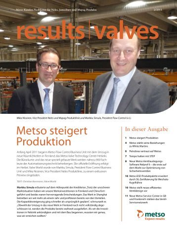 Metso steigert Produktion