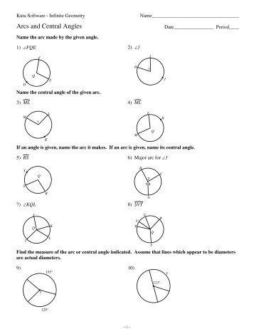 26 Angle Relationships In Circles Worksheet Answers ...