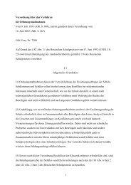 Verordnung über das Verfahren bei Ordnungsmaßnahmen