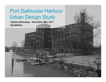 Port Dalhousie Harbour U b D i S d rban Design Study - City of St ...