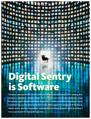 Digital Sentry Is Software (PDF file, 288 KB) - Pelco