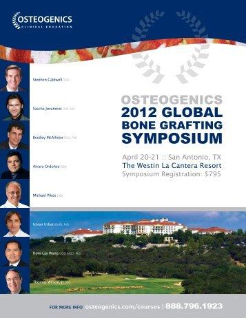 2012 Global Bone Grafting Symposium brochure - Osteogenics