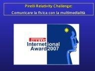 Pirelli Relativity Challenge - Comunicare Fisica - Infn