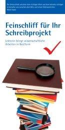 Feinschliff für Ihr Schreibprojekt - Bremer Medienbüro