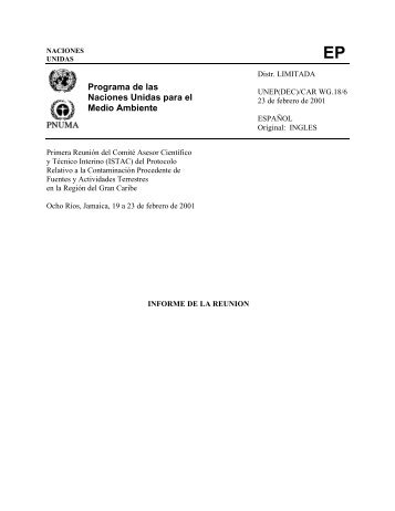 Caribbean Environment Programme - UNEP