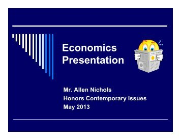 Econ Group Presentation Guidelines