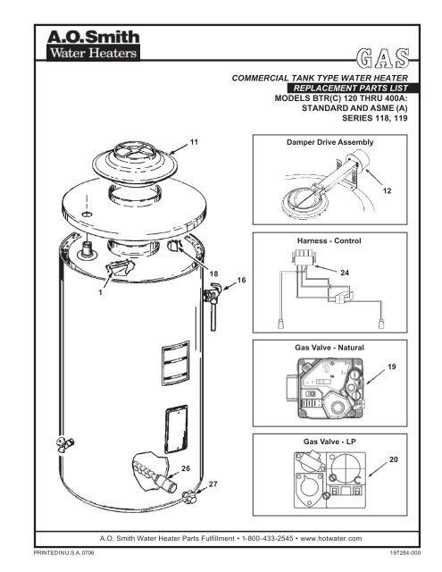 Btrc 120 500a Com Gas Parts List 197284 000 0706 P65