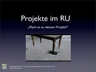 """""""Mach es zu deinem Projekt!"""" - Evangelischer Religionsunterricht in ..."""