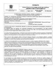 FORMATO - Ministerio de Agricultura y Desarrollo Rural
