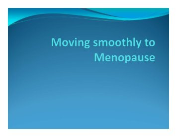 Moving smoothly to Menopause - Lsfm.net