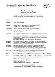 Einladung zum Jugend - Bootshegefischen 2013 - VDSF LV Berlin ...