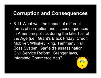 Corruption and Consequences