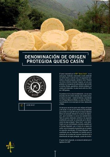 DENOMINACIÓN DE ORIGEN PROTEGIDA QUESO CASÍN - Asturex