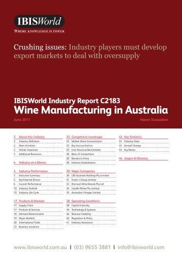 Wine Manufacturing in Australia - Wines Of Argentina