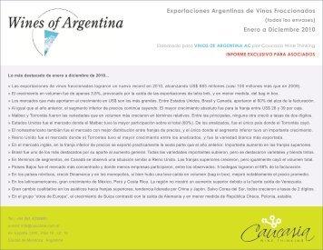 Enero a Diciembre de 2010 - Wines Of Argentina