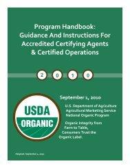 (National Organic Program) Handbook - Agricultural Marketing ...