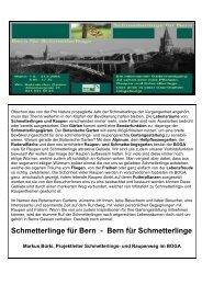 Bern für Schmetterlinge - Botanischer Garten Bern