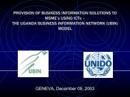 THE UGANDA BUSINESS INFORMATION NETWORK MODEL - Unido