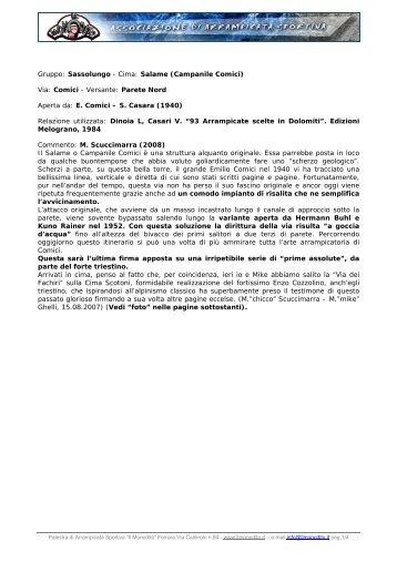 Gruppo: Sassolungo - Cima: Salame (Campanile ... - Il Monodito