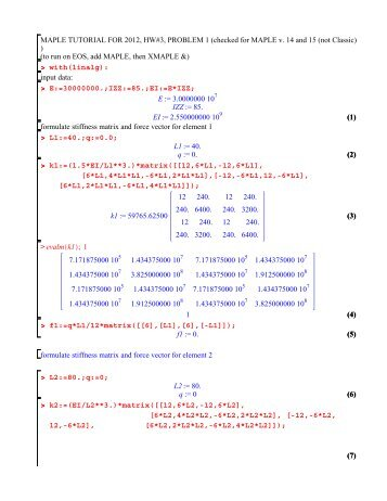 HW #3 Problem 1 MAPLE Tutorial (pdf)
