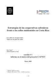 Estrategias de las cooperativas cafetaleras frente a los sellos ... - Catie