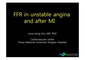 FFR in unstable angina and after MI F - summitMD.com