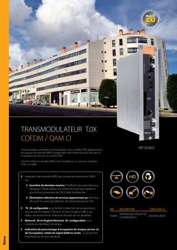 TRANSMODULATEUR T.0X COFDM / QAM CI - Televes