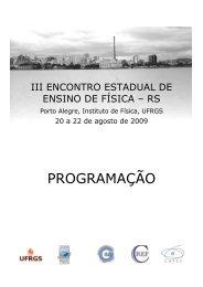 PROGRAMAÇÃO - Instituto de Física - UFRGS