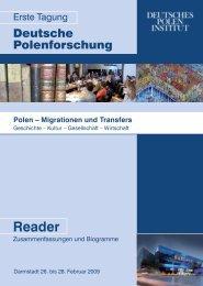 Reader zur Tagung - Deutsches Polen Institut