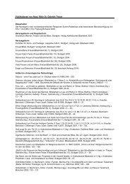 Publikationen von Akad. Rätin Dr. Gabriele Theuer Dissertation Der ...