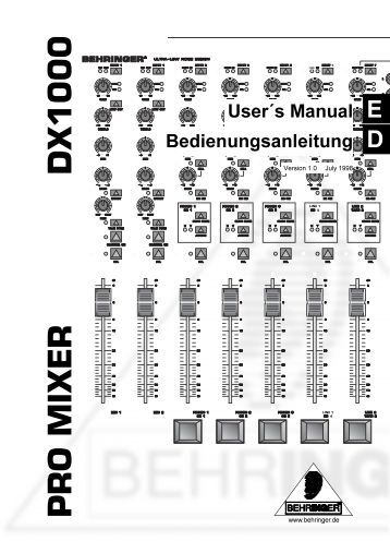Mackie 12 Channel Mixer Manual