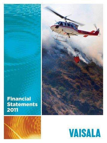 Financial Statements 2011 - Vaisala