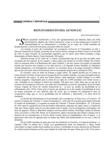 REFLOTAMIENTO DEL GUNDULIC - Revista de Marina