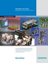 Solid Edge Tool Design Brochure - Siemens PLM Software