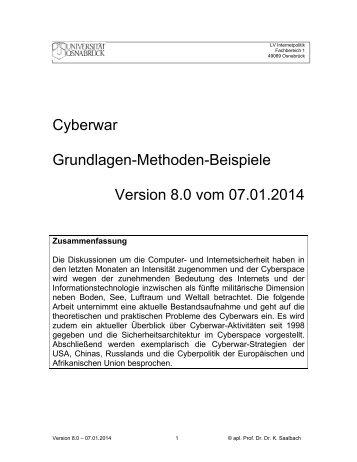Cyberwar: Grundlagen - Methoden - Beispiele - Verlag Dirk Koentopp