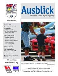 Ausblick V9n1 - the BMW Car Club of British Columbia