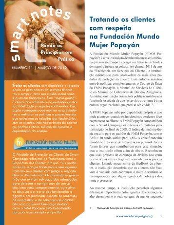 Tratando os clientes com respeito na Fundación Mundo Mujer ...