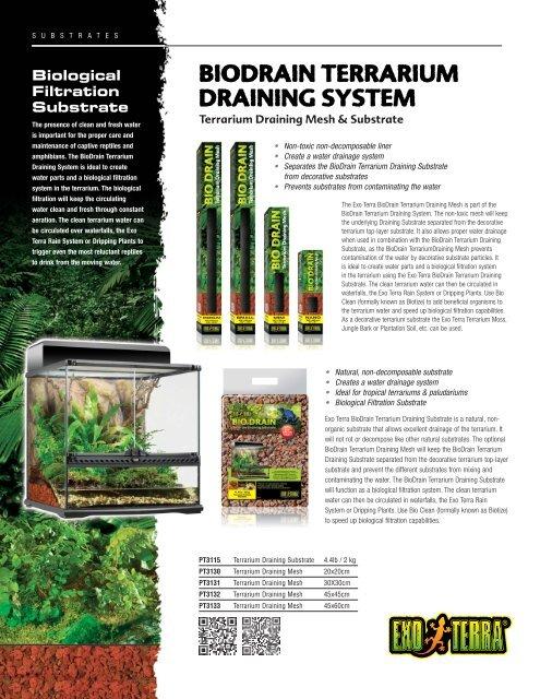 Biodrain Terrarium Draining System Exo Terra