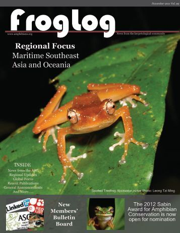 FrogLog 99 PDF here - Amphibian Specialist Group