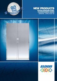 Stainless steel floor standing products - Eldon