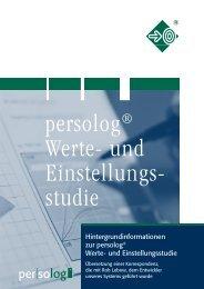 und Einstellungsstudie - Persolog GmbH