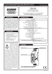 ELEKTROMAGNETISKA RELÄER ER116230 - Eldon