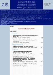 AUFSÄTZE Zivilrecht Öffentliches Recht Strafrecht - ZJS