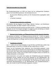 Maßnahmenpaket bis Ende 2008 - Karin Evers-Meyer