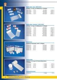 Verbandstoffe und Pflaster