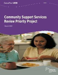 Community Support Services Review Priority Project - Central East ...